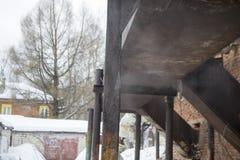 Σκουριασμένος ο σωλήνας ατμού Στοκ φωτογραφία με δικαίωμα ελεύθερης χρήσης