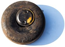 Σκουριασμένος παλαιός χρησιμοποιημένος κύλινδρος LPG στοκ φωτογραφίες με δικαίωμα ελεύθερης χρήσης