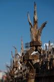 Σκουριασμένος παλαιός φράκτης στην Αμβέρσα Βέλγιο Στοκ Εικόνες