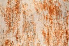 σκουριασμένος τοίχος μετάλλων Στοκ Φωτογραφία
