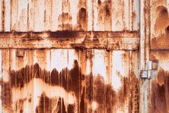 σκουριασμένος τοίχος μετάλλων Στοκ φωτογραφία με δικαίωμα ελεύθερης χρήσης