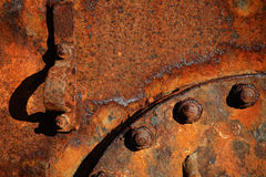 σκουριασμένος χάλυβας λεπτομερειών Στοκ Εικόνες