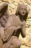 σκουριασμένο άγαλμα σιδήρου αγγέλου στοκ φωτογραφίες