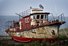 Σκουριασμένο ατμόπλοιο στοκ εικόνα με δικαίωμα ελεύθερης χρήσης