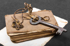 Σκουριασμένο βασικό, παλαιό βιβλίο και κενή φωτογραφία Στοκ φωτογραφίες με δικαίωμα ελεύθερης χρήσης