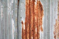 Σκουριασμένο γαλβανισμένο υπόβαθρο χάλυβα Στοκ εικόνες με δικαίωμα ελεύθερης χρήσης