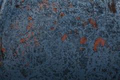 Σκουριασμένο ηλικίας μπλε υπόβαθρο μετάλλων Στοκ Φωτογραφίες