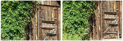 Σκουριασμένο κολάζ πορτών σιταποθηκών αρθρώσεων Barnwood Στοκ φωτογραφίες με δικαίωμα ελεύθερης χρήσης