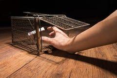 Σκουριασμένο κλουβί αρουραίων Στοκ Φωτογραφίες