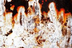 Σκουριασμένο μέταλλο με το παλαιό ραγισμένο χρώμα Στοκ Εικόνα