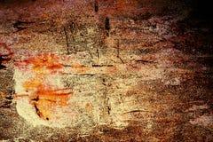 Σκουριασμένο μέταλλο με το παλαιό ραγισμένο χρώμα στοκ φωτογραφίες με δικαίωμα ελεύθερης χρήσης