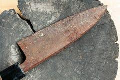 Σκουριασμένο μαχαίρι Στοκ φωτογραφίες με δικαίωμα ελεύθερης χρήσης