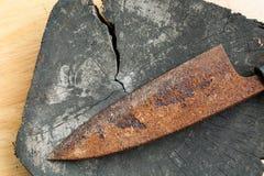 Σκουριασμένο μαχαίρι Στοκ Φωτογραφίες
