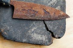 Σκουριασμένο μαχαίρι Στοκ εικόνες με δικαίωμα ελεύθερης χρήσης