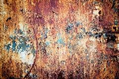 Σκουριασμένο μεταλλικό πιάτο με το shabby χρώμα, υπόβαθρο σύστασης σιδήρου Στοκ φωτογραφίες με δικαίωμα ελεύθερης χρήσης