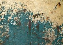 Σκουριασμένο μεταλλικό υπόβαθρο τοίχων επιφάνειας κατασκευασμένο στοκ εικόνα με δικαίωμα ελεύθερης χρήσης