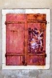 Σκουριασμένο παράθυρο μετάλλων Στοκ Φωτογραφίες