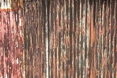 Σκουριασμένο παλαιό ζαρωμένο υπόβαθρο μετάλλων Στοκ εικόνες με δικαίωμα ελεύθερης χρήσης