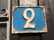 Σκουριασμένο πιάτο των αριθμών οδού Στοκ φωτογραφία με δικαίωμα ελεύθερης χρήσης