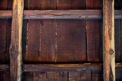 Σκουριασμένο πλαισιωμένο τρύγος υπόβαθρο σανίδων Στοκ Εικόνες