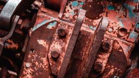 Σκουριασμένο υπόβαθρο σύστασης ενώσεων χάλυβα στοκ φωτογραφία