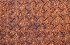 Σκουριασμένο υπόβαθρο σύστασης πατωμάτων μεταλλικών πιάτων υπόβαθρο σκουριάς πιάτων σύστασης του πατώματος πιάτων χάλυβα στο καφε Στοκ φωτογραφίες με δικαίωμα ελεύθερης χρήσης