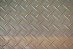 Σκουριασμένο υπόβαθρο σύστασης πιάτων διαμαντιών χάλυβα Βρώμικο πάτωμα μετάλλων Στοκ εικόνες με δικαίωμα ελεύθερης χρήσης