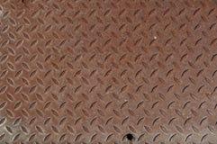 Σκουριασμένο υπόβαθρο Diamondplate Στοκ φωτογραφία με δικαίωμα ελεύθερης χρήσης