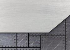 Σκούρο γκρι υπόβαθρο μετάλλων με τη βουρτσισμένη σύσταση, τρισδιάστατη, illustratio Στοκ Φωτογραφίες