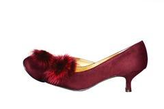 σκούρο κόκκινο παπούτσια Στοκ φωτογραφία με δικαίωμα ελεύθερης χρήσης