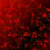 Σκούρο κόκκινο υπόβαθρο με τα τρίγωνα Στοκ Φωτογραφία