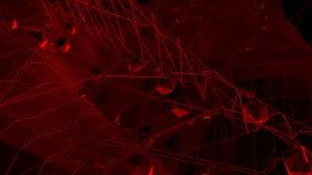 Σκούρο κόκκινο χαμηλή πολυ επιφάνεια κυματισμού ως πανέμορφο υπόβαθρο Σκούρο κόκκινο polygonal γεωμετρικό δομένος περιβάλλον ή να απεικόνιση αποθεμάτων