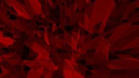 Σκούρο κόκκινο χαμηλή πολυ επιφάνεια κυματισμού ως φουτουριστικό υπόβαθρο Σκούρο κόκκινο polygonal γεωμετρικό δομένος περιβάλλον  διανυσματική απεικόνιση