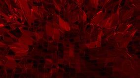 Σκούρο κόκκινο χαμηλή πολυ επιφάνεια κυματισμού ως μεγάλο υπόβαθρο Σκούρο κόκκινο polygonal γεωμετρικό δομένος περιβάλλον ή να κυ διανυσματική απεικόνιση