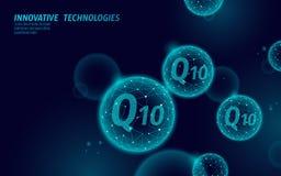 Σκούρο μπλε σφαίρα σφαιρών βιταμινών Q10 χαμηλή πολυ Σύνθετο coenzyme Q αγγελιών καλλυντικών αντι-γήρανσης φροντίδας δέρματος συμ απεικόνιση αποθεμάτων