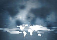 Σκούρο μπλε σχέδιο τεχνολογίας Στοκ φωτογραφία με δικαίωμα ελεύθερης χρήσης