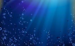 Σκούρο μπλε υπόβαθρο δυαδικού κώδικα Μεγάλος χαράσσοντας στοιχείων και προγραμματισμού, βαθιές αποκρυπτογράφηση και κρυπτογράφηση διανυσματική απεικόνιση