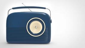 Σκούρο μπλε εκλεκτής ποιότητας ραδιόφωνο ελεύθερη απεικόνιση δικαιώματος