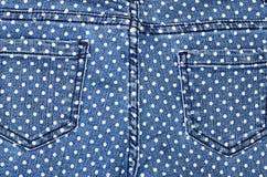 Σκούρο μπλε θηλυκά τζιν - δομή υφάσματος Στοκ φωτογραφίες με δικαίωμα ελεύθερης χρήσης