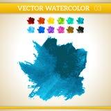 Σκούρο μπλε διανυσματικός καλλιτεχνικός παφλασμός Watercolor Στοκ φωτογραφία με δικαίωμα ελεύθερης χρήσης