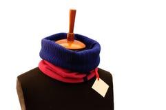 Σκούρο μπλε και κόκκινο ραβδωτό μαντίλι Στοκ Φωτογραφίες