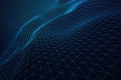 Σκούρο μπλε κύματα πλέγματος ελεύθερη απεικόνιση δικαιώματος