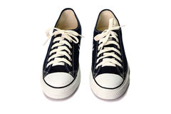 Σκούρο μπλε παπούτσια που απομονώνονται στο άσπρο υπόβαθρο Στοκ Εικόνα
