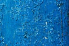 Σκούρο μπλε παλαιό ξύλινο αφηρημένο υπόβαθρο Στοκ Εικόνες
