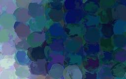 Σκούρο μπλε στρογγυλό υπόβαθρο κτυπημάτων βουρτσών Στοκ Φωτογραφίες