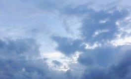 Σκούρο μπλε σύννεφα θύελλας Στοκ Εικόνες