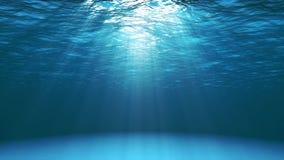 Σκούρο μπλε ωκεάνια επιφάνεια που βλέπει από υποβρύχιο ελεύθερη απεικόνιση δικαιώματος