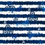 Σκούρο μπλε λωρίδες grunge με τα κελτικά triskels ελεύθερη απεικόνιση δικαιώματος