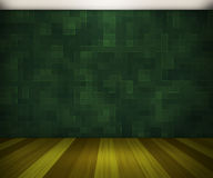 Σκούρο πράσινο δωμάτιο Στοκ φωτογραφία με δικαίωμα ελεύθερης χρήσης