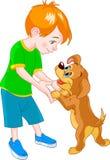 σκυλί αγοριών απεικόνιση αποθεμάτων